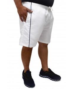 Short Bermuda Plus Size Butu Biru Microfibra Branco